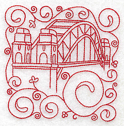 Embroidery Design: Sydney harbour bridge small 3.89w X 3.87h