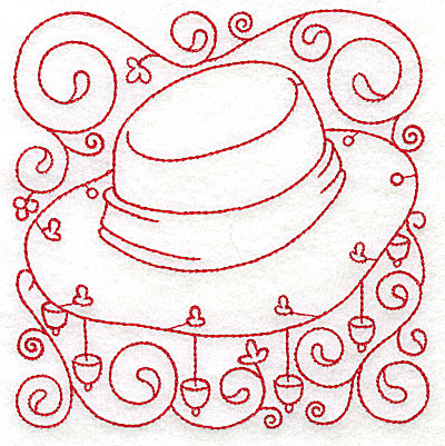 Embroidery Design: Akubra hat medium 4.72w X 4.80h