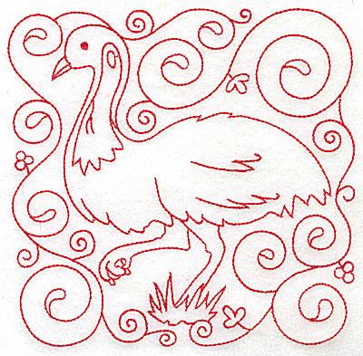 Embroidery Design: Emu large 6.00w X 5.95h