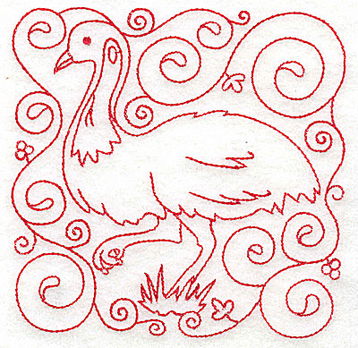 Embroidery Design: Emu medium 4.80w X 4.76h