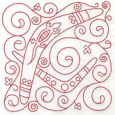 Embroidery Design: Boomerang large 5.97w X 6.00h