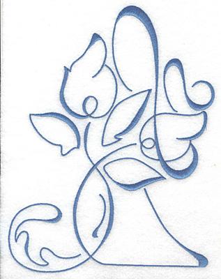 Embroidery Design: Art Deco 110 8.85w X 6.75h