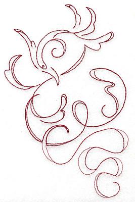 Embroidery Design: Art Deco 121 redwork 4.13w X 6.46h