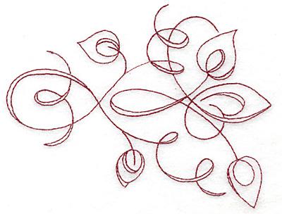 Embroidery Design: Art Deco 123 redwork 5.84w X 4.44h