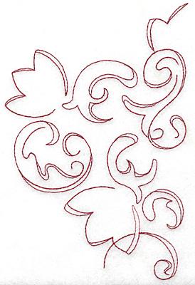 Embroidery Design: Art Deco 124 redwork 4.95w X 7.59h