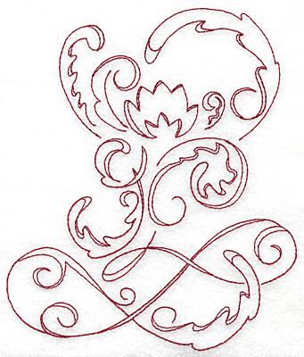 Embroidery Design: Art Deco 127 redwork 5.80w X 6.87h