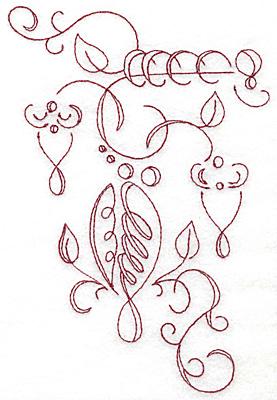 Embroidery Design: Art Deco 128 redwork 4.87w X 7.31h