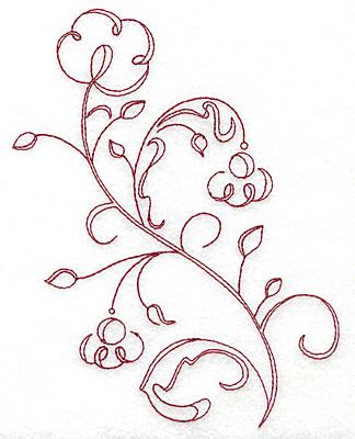 Embroidery Design: Art Deco 130 redwork 5.38w X 7.05h