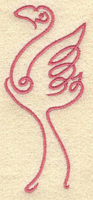 Embroidery Design: Flamingo 1 small 1.69w X 3.87h