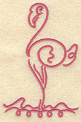 Embroidery Design: Flamingo 4 small 2.56w X 3.88h