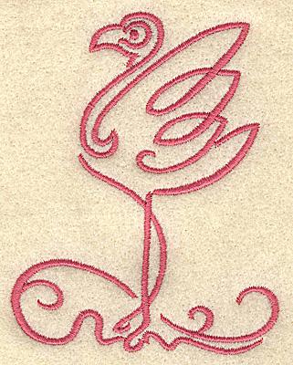 Embroidery Design: Flamingo 5 small 3.03w X 3.90h