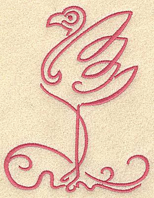 Embroidery Design: Flamingo 5 medium 3.87w X 4.98h