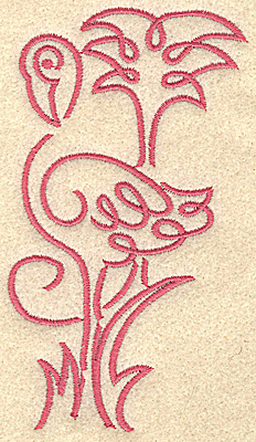 Embroidery Design: Flamingo 7 medium 2.64w X 4.94h
