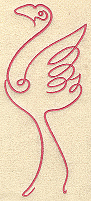Embroidery Design: Flamingo 1 large 3.12w X 7.39h