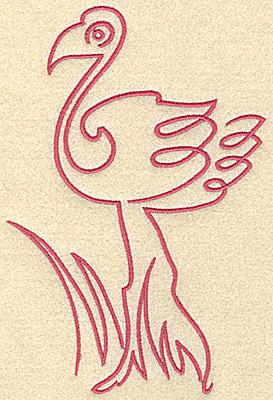 Embroidery Design: Flamingo 2 large 2.96w X 7.45