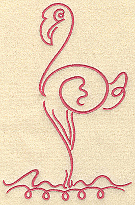 Embroidery Design: Flamingo 4 large 4.95w X 7.48h