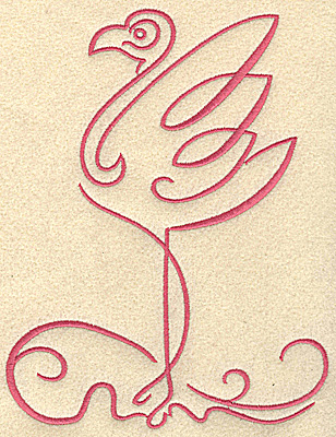 Embroidery Design: Flamingo 5 large 5.74w X 7.45h