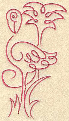 Embroidery Design: Flamingo 7 large 3.88w X 7.47h