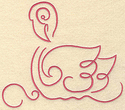 Embroidery Design: Flamingo 8 large 7.45w X 6.52h