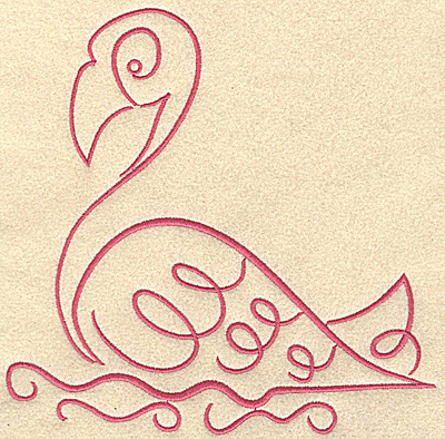 Embroidery Design: Flamingo 9 large 7.43w X 7.33h