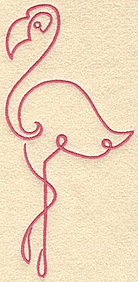 Embroidery Design: Flamingo 10 large 3.61w X 7.47h