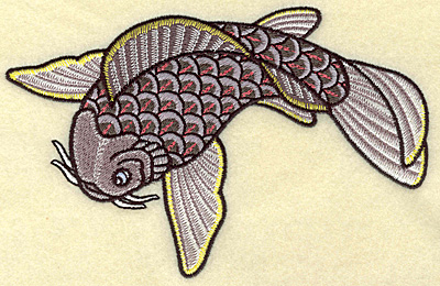 Embroidery Design: Koi colorful 6.94w X 4.48h