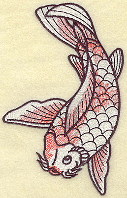 Embroidery Design: Koi 4.30w X 6.82h