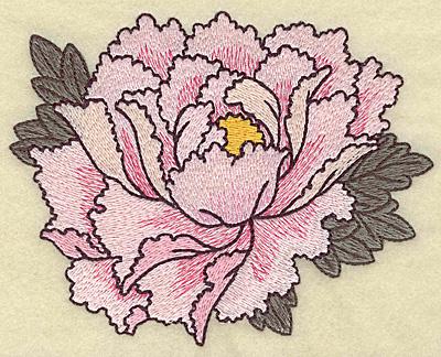 Embroidery Design: Peony 5.20w X 4.14h