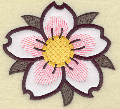 Embroidery Design: Cherry blossom applique 4.22w X 4.45h