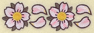 Embroidery Design: Cherry blossom duo 5.27w X 1.77h