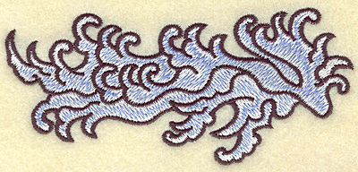Embroidery Design: Waves 4.94w X 2.24h