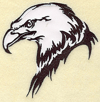 Embroidery Design: American Eagle head side view applique large 4.94w X 4.92h