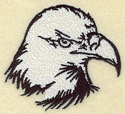 Embroidery Design: American Eagle head medium 3.57w X 3.24h