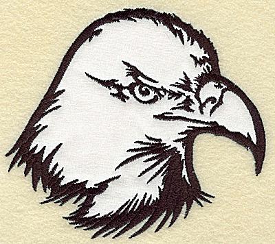 Embroidery Design: American Eagle head applique large 5.48w X 4.94h