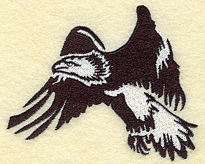 Embroidery Design: American Eagle flying small 3.88w X 3.15h