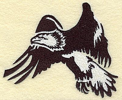 Embroidery Design: American Eagle flying medium 4.96w X 4.04h