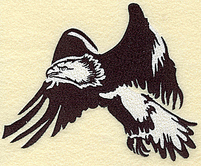 Embroidery Design: American Eagle flying large 6.14w X 4.99h