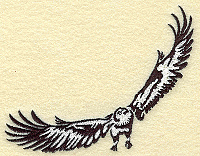 Embroidery Design: American Eagle medium 4.99w X 3.81h