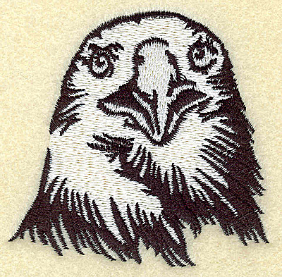 Embroidery Design: American Eagle head front view small 2.99w X 2.91h
