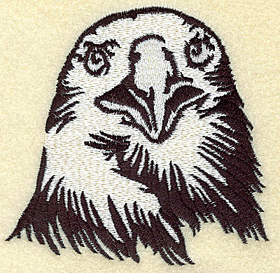 Embroidery Design: American Eagle head front view medium 3.88w X 3.78h
