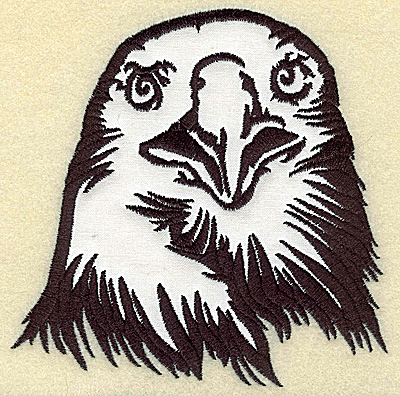 Embroidery Design: American Eagle head front view applique large 4.98w X 4.95h