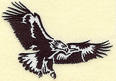 Embroidery Design: American Eagle soaring medium 4.92w X 3.46h