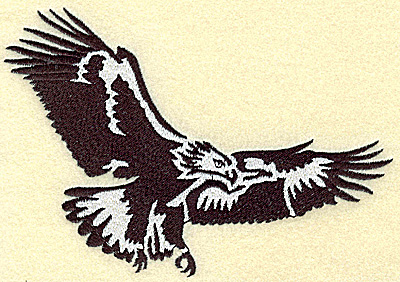 Embroidery Design: American Eagle soaring large 6.40w X 4.50h