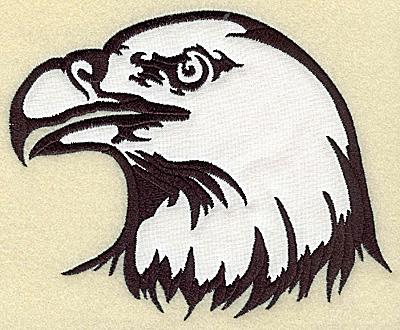 Embroidery Design: American Eagle head applique large 6.11w X 4.95h