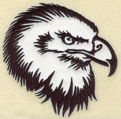 Embroidery Design: American Eagle head applique large 5.05w X 4.96h