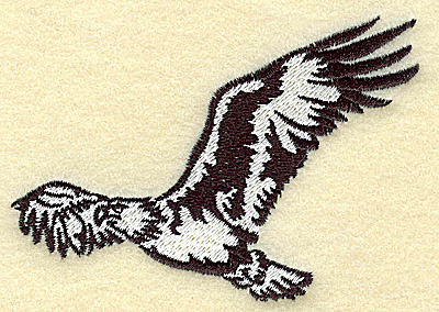 Embroidery Design: American Eagle in the air small 3.87w X 2.65h