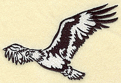 Embroidery Design: American Eagle in the air medium 4.96w X 3.39h