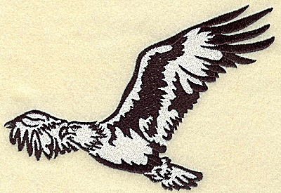 Embroidery Design: American Eagle in the air large 6.44w X 4.40h