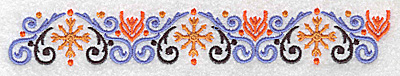 Embroidery Design: Border 1 6.93w X 1.02h