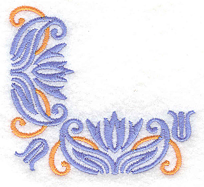 Embroidery Design: Corner 2 3.11w X 2.87h